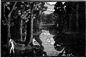 wood-engraving of Boys Bathing